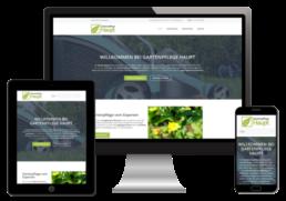 Gartenpflege Webseite erstellt