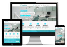 Website Homepage für Zahnarztpraxis